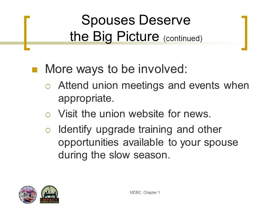 Spouses Deserve the Big Picture (continued)