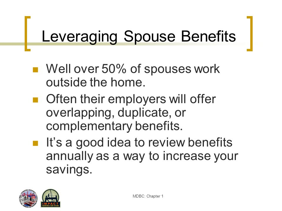 Leveraging Spouse Benefits
