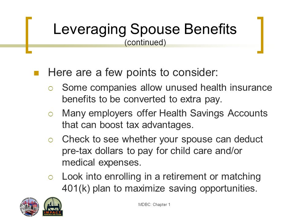 Leveraging Spouse Benefits (continued)