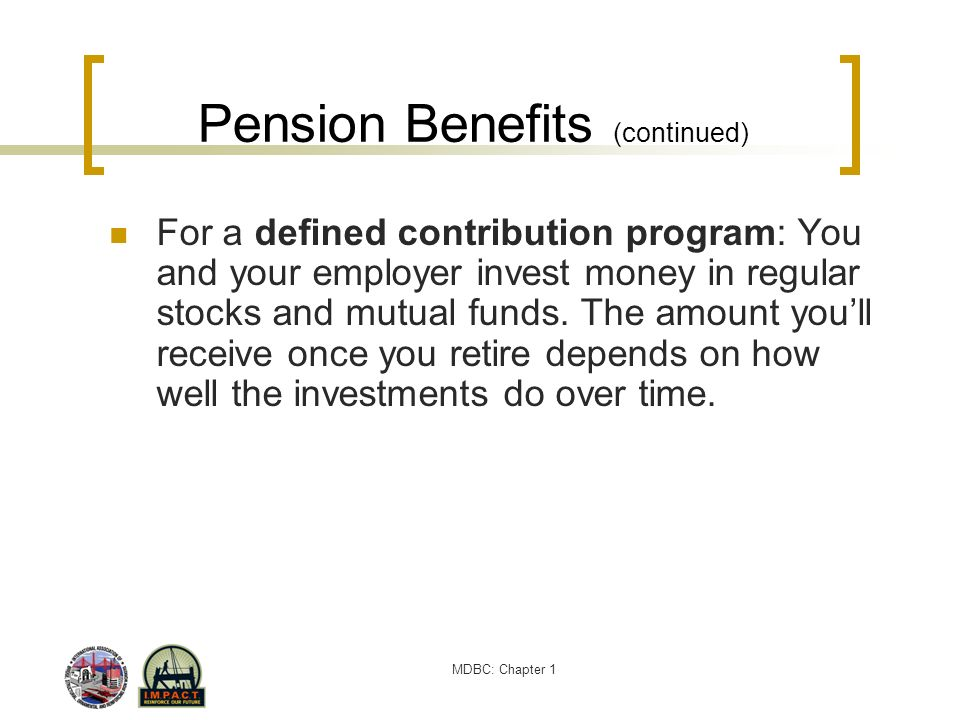 Pension Benefits (continued)
