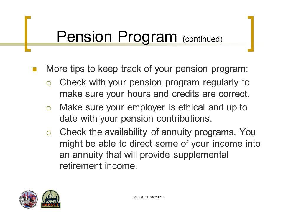 Pension Program (continued)