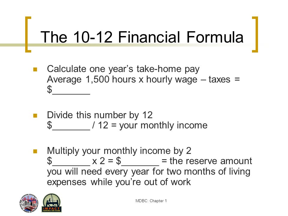 The 10-12 Financial Formula