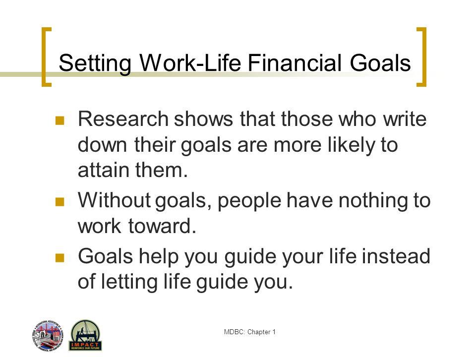 Setting Work-Life Financial Goals