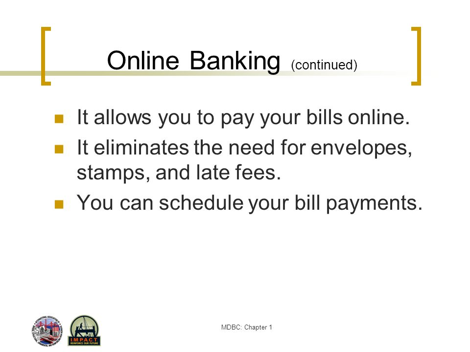 Online Banking (continued)