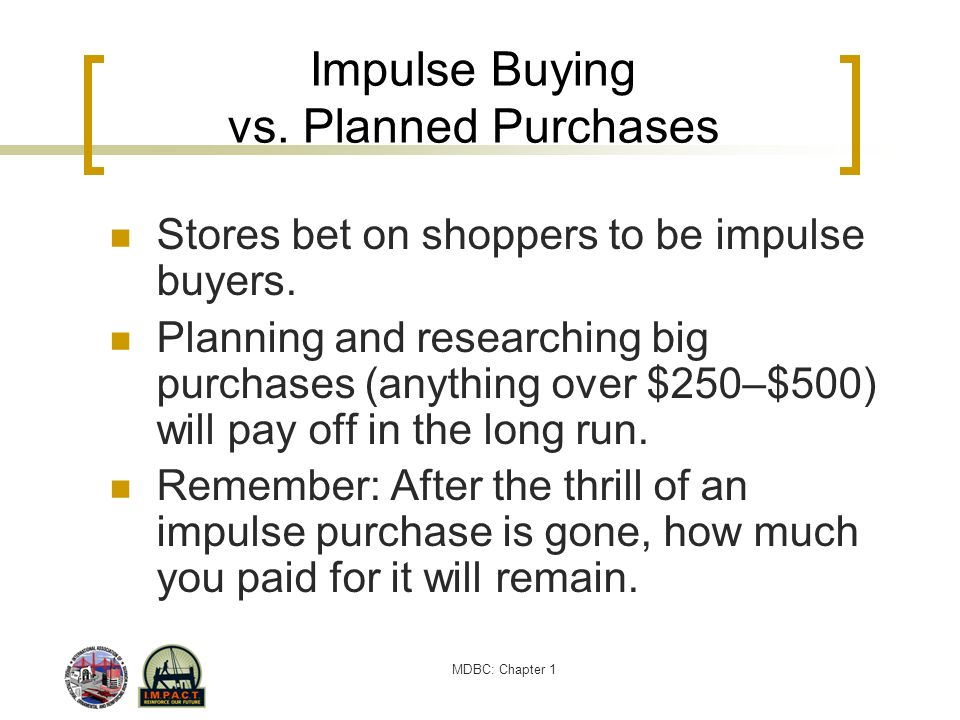 Impulse Buying vs. Planned Purchases
