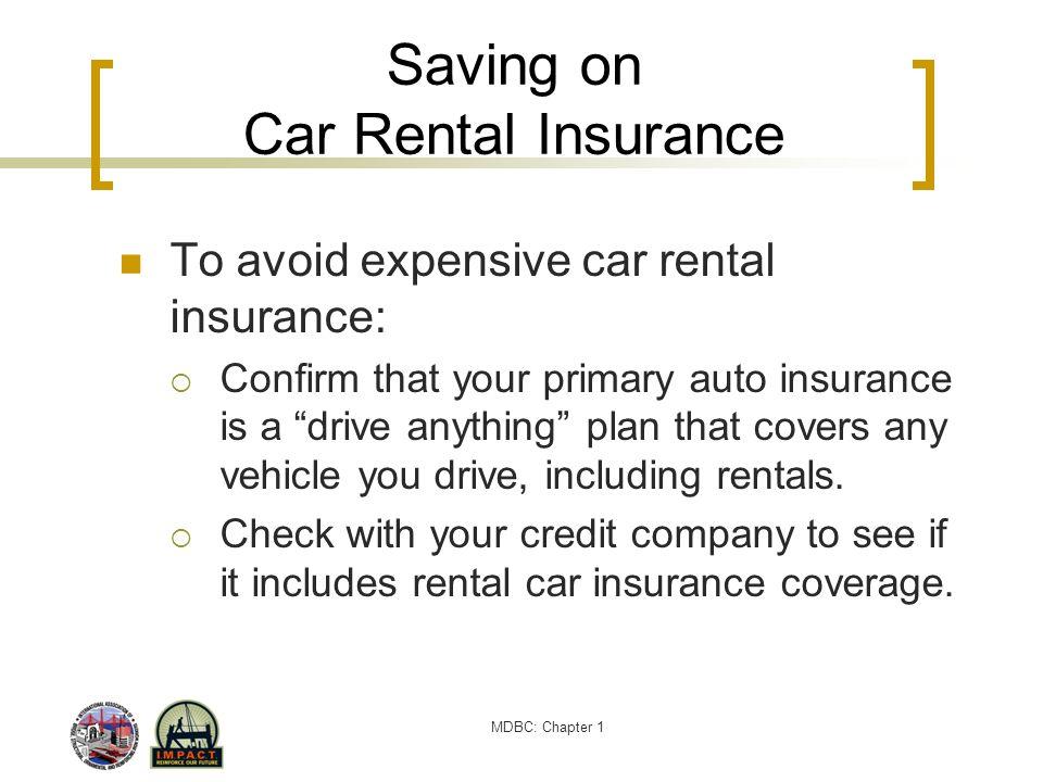 Saving on Car Rental Insurance