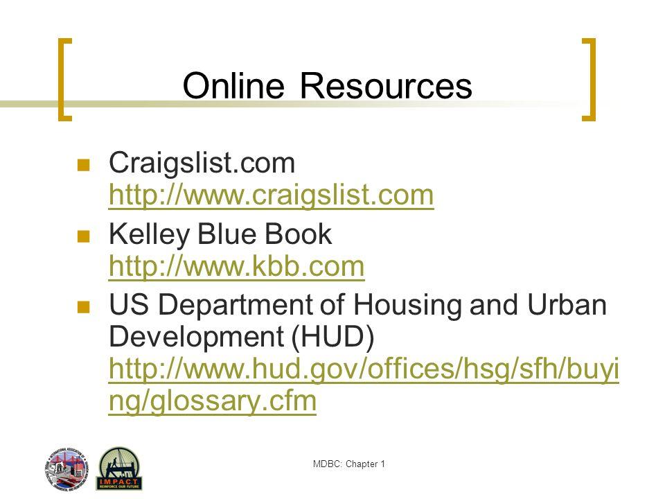 Online Resources Craigslist.com http://www.craigslist.com