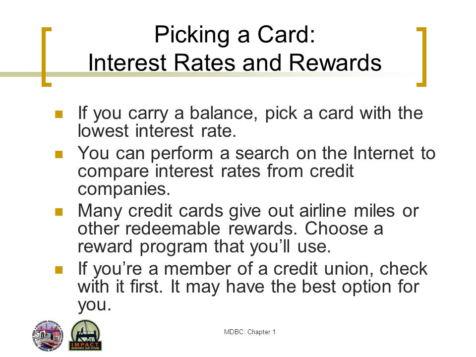 Picking a Card: Interest Rates and Rewards