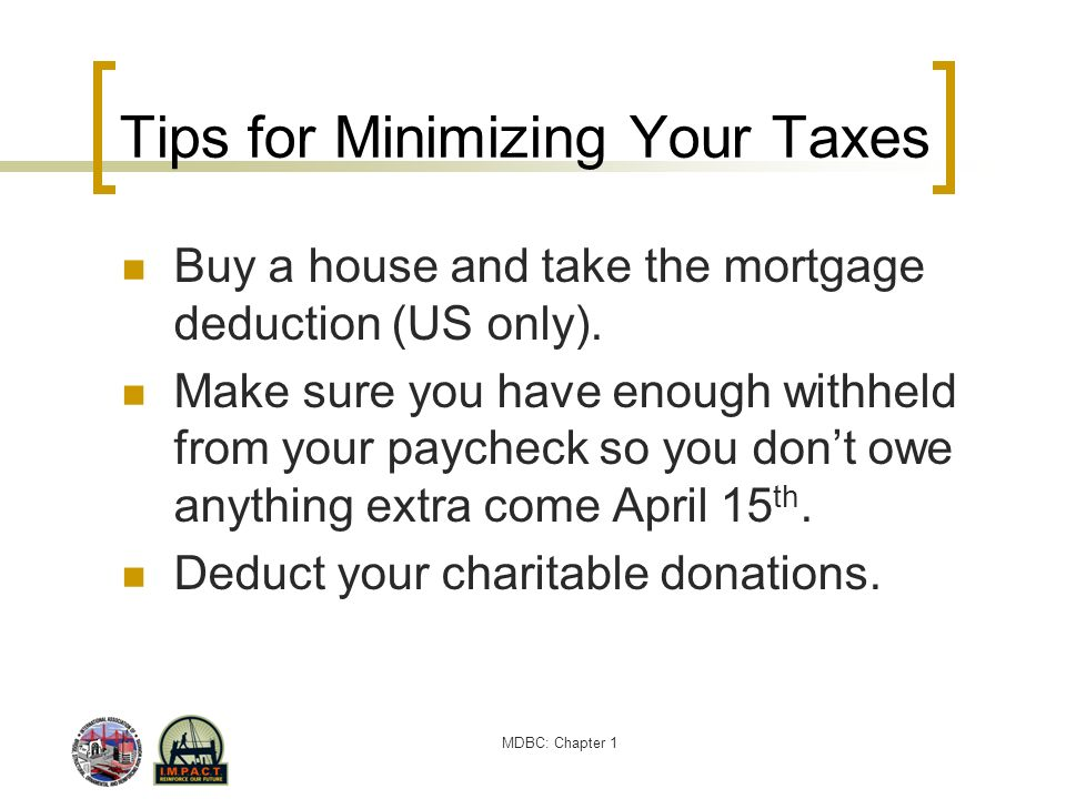 Tips for Minimizing Your Taxes