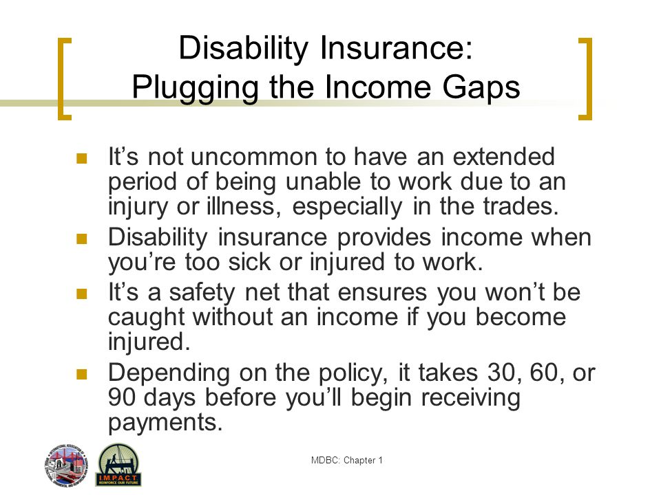 Disability Insurance: Plugging the Income Gaps