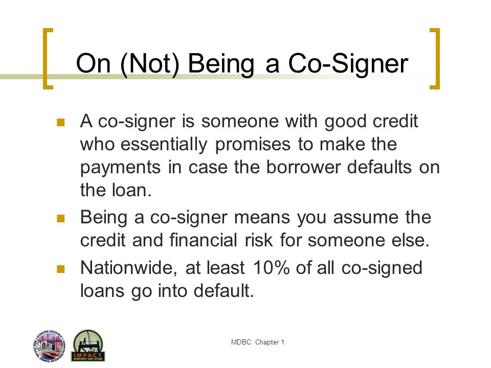 On (Not) Being a Co-Signer