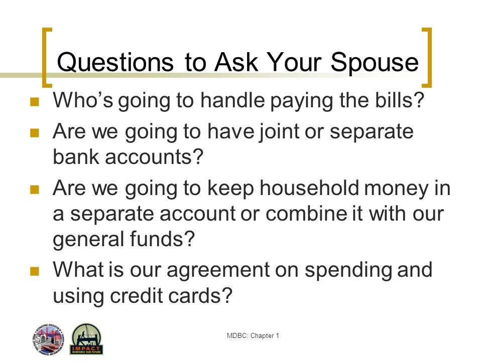 Questions to Ask Your Spouse