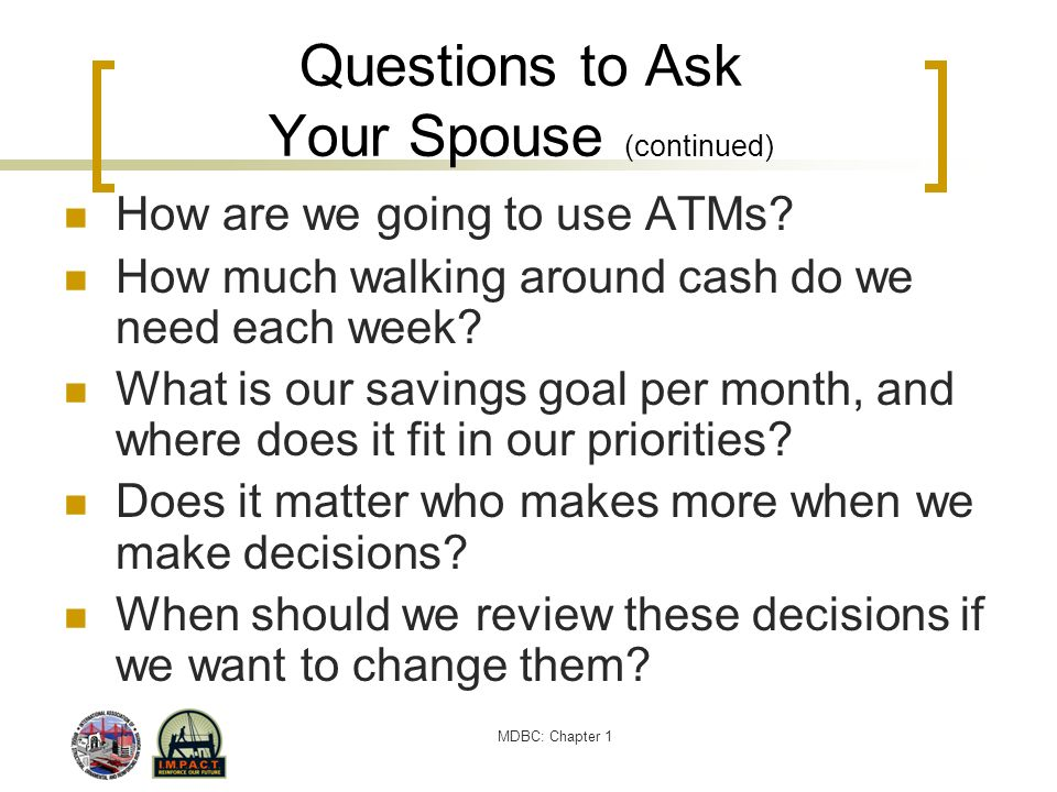 Questions to Ask Your Spouse (continued)