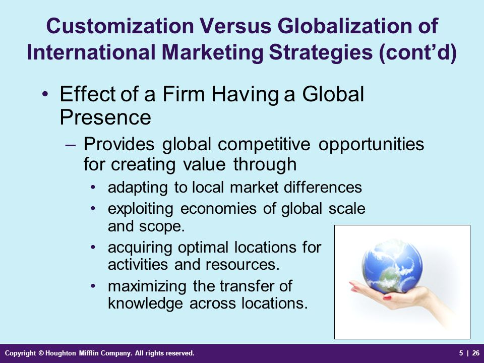 Effect of a Firm Having a Global Presence
