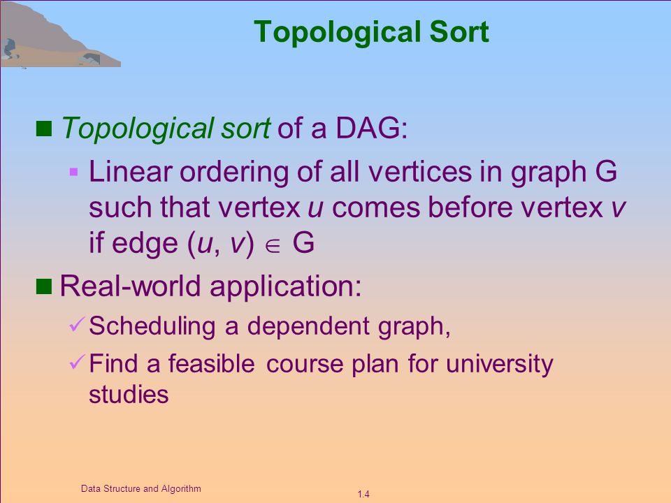 Lecture 10 Topics Application Of Dfs Topological Sort