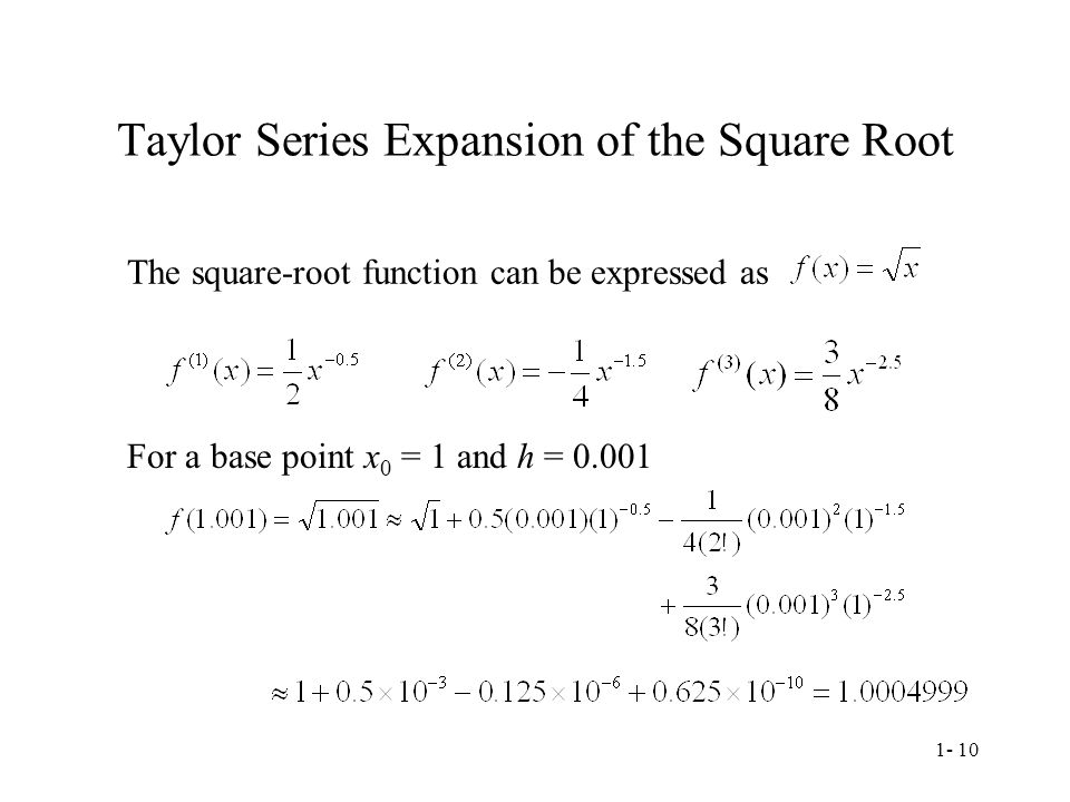 Taylor Series Expansion of the Square Root