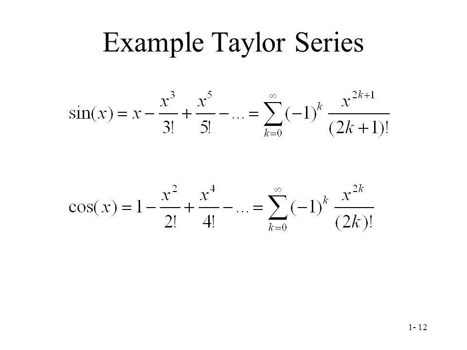 Example Taylor Series