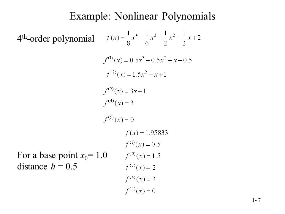 Example: Nonlinear Polynomials