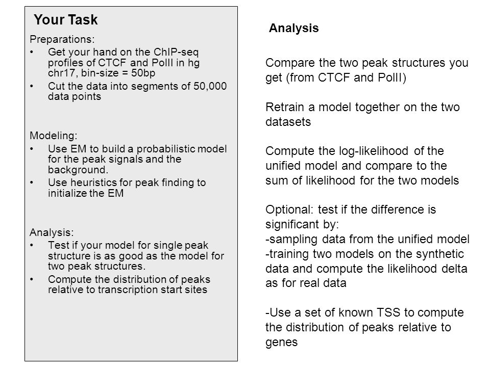 Your Task Your Task Analysis