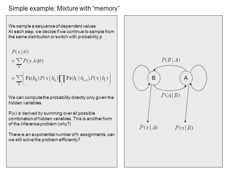Simple example: Mixture with memory