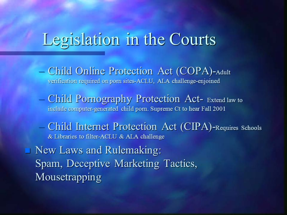 Children's Online Privacy Protection Rule (