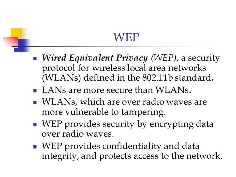 Wep security