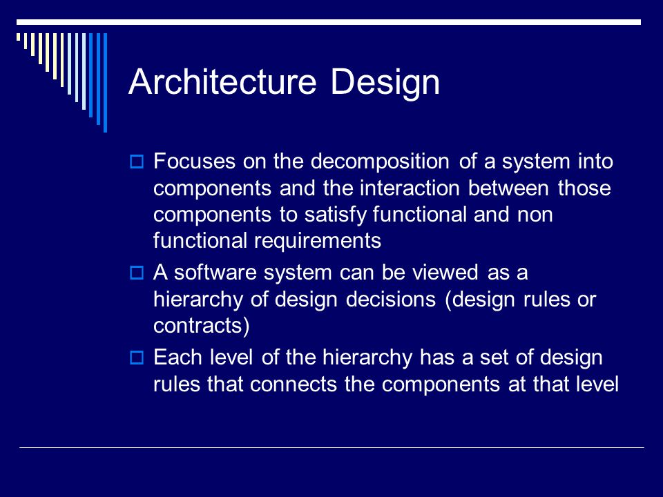 Architecture Design Rules