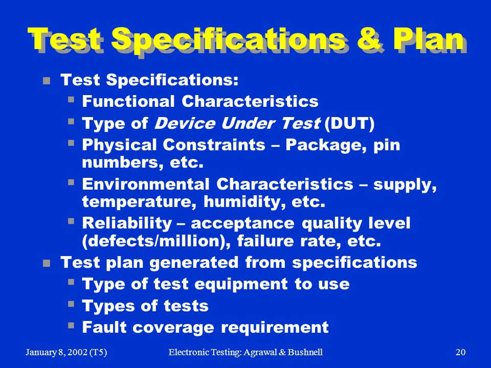 Types Of Electrical Test Equipment : Electronic testing for soc designers ppt download