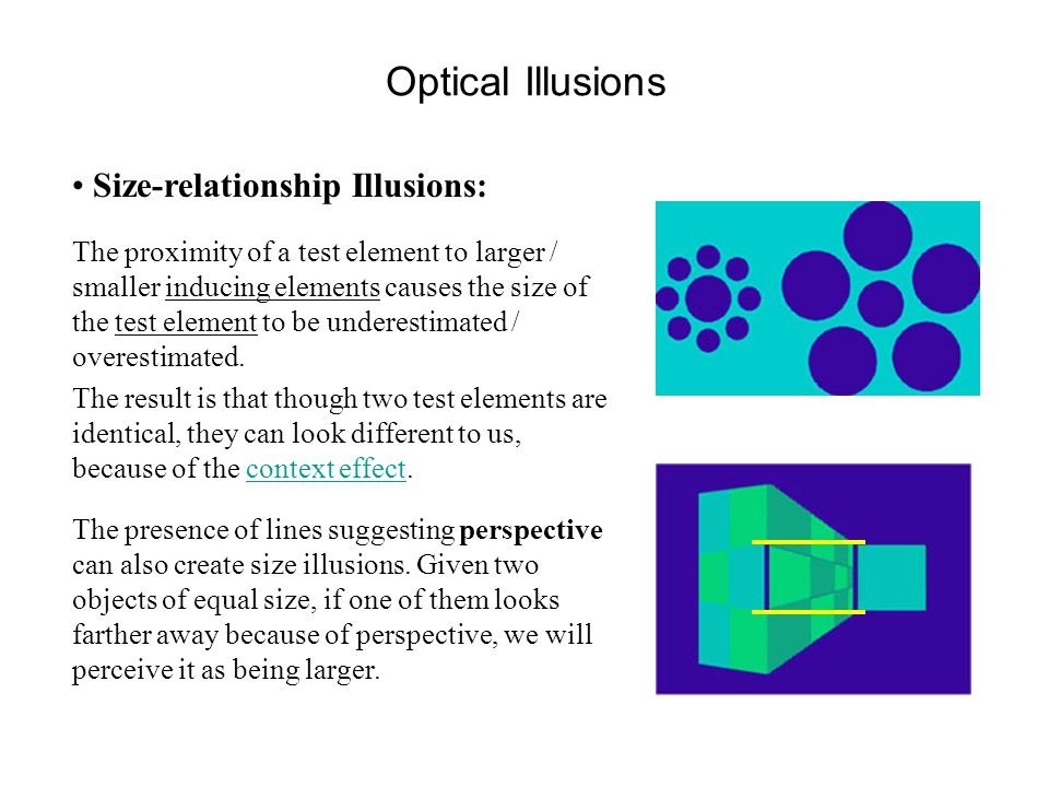 math and optical illusions relationship test