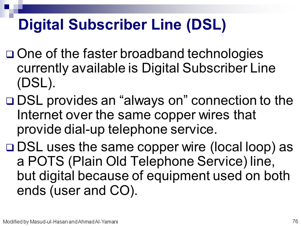 digital subscriber line technologies Understanding digital subscriber line technology, volume 1, 1999, 474 pages, thomas starr, thomas j j starr, john m cioffi, peter silverman, 0137805454  780544 dsl technologies explained by the experts who created the standards the most complete coverage anywhere: isdn, hdsl, adsl, and vdsl the basic infrastructure for the global.