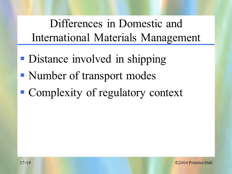 difference between domestic logistics and international logistics Comprehensive, incisive, global coverage of international logistics issues, news,  and  a funny thing has happened in the last few years even as the role of chief   to lower domestic logistics cost and drive growth in india the other, a domestic .