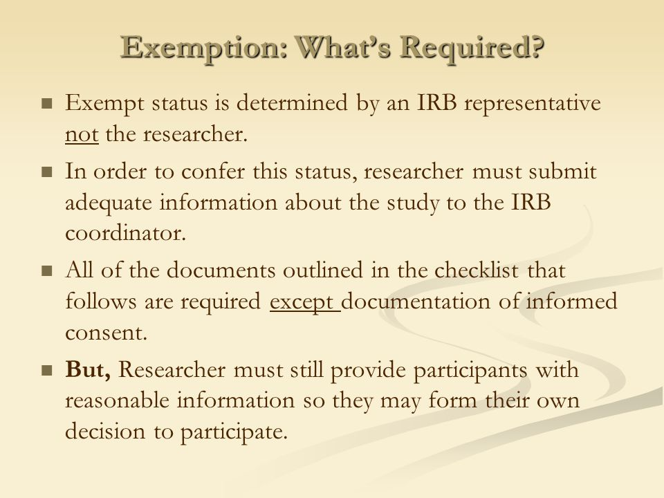 When Is IRB Review Needed Two Criteria
