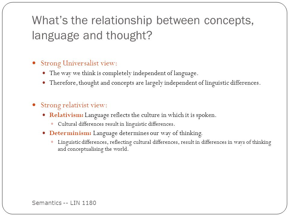 an analysis of the relationship between thought and language Thinking and language chapter  what is the relationship between language  and  way we communicate meaning to ourselves and others.