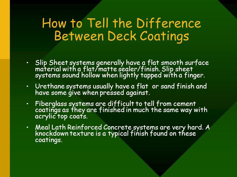 How to Tell the Difference Between Deck Coatings