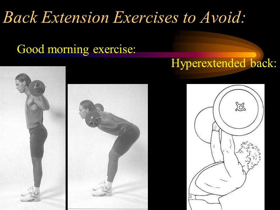 Back Extension Exercises to Avoid: