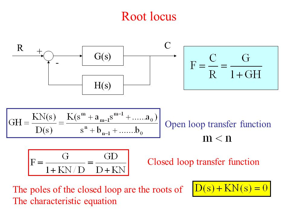 root locus Root locus - 4 two rules to use to draw approximate root locus before the advent of the great computer analysis tools for the root locus that we find in matlab, all calculations had to be done manually, with a calculator.