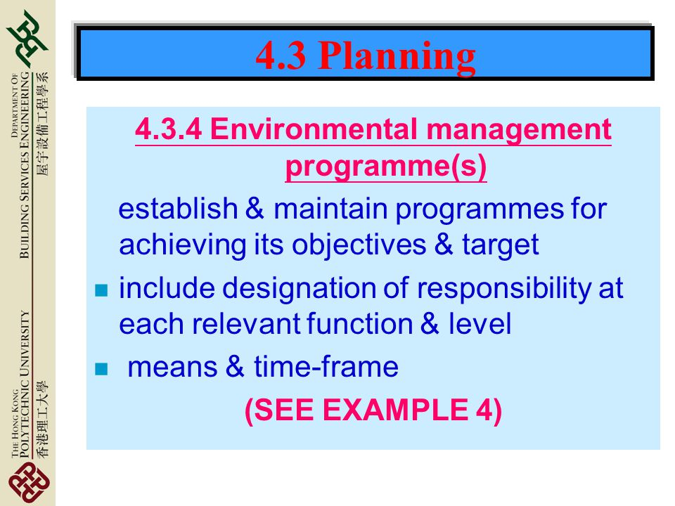 4.3.4 Environmental management programme(s)