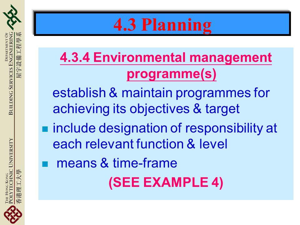 4.3.4 Environmental management programme(s)
