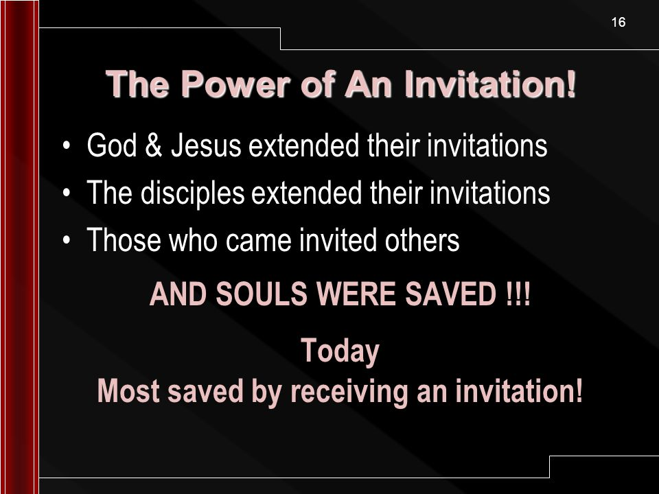 The power of an invitation ppt video online download the power of an invitation stopboris Gallery