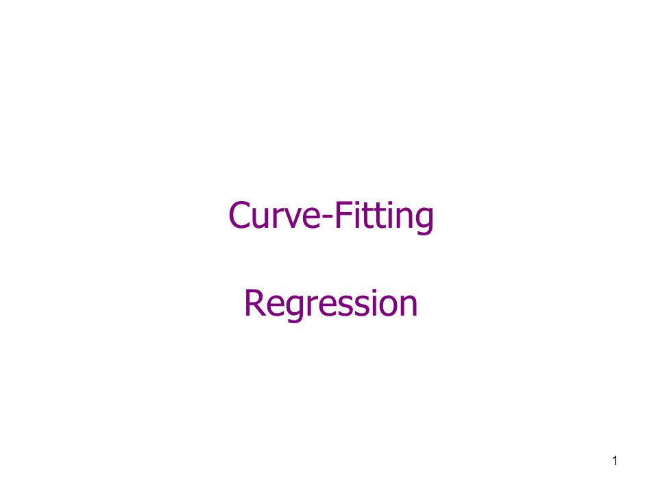 Curve-Fitting Regression