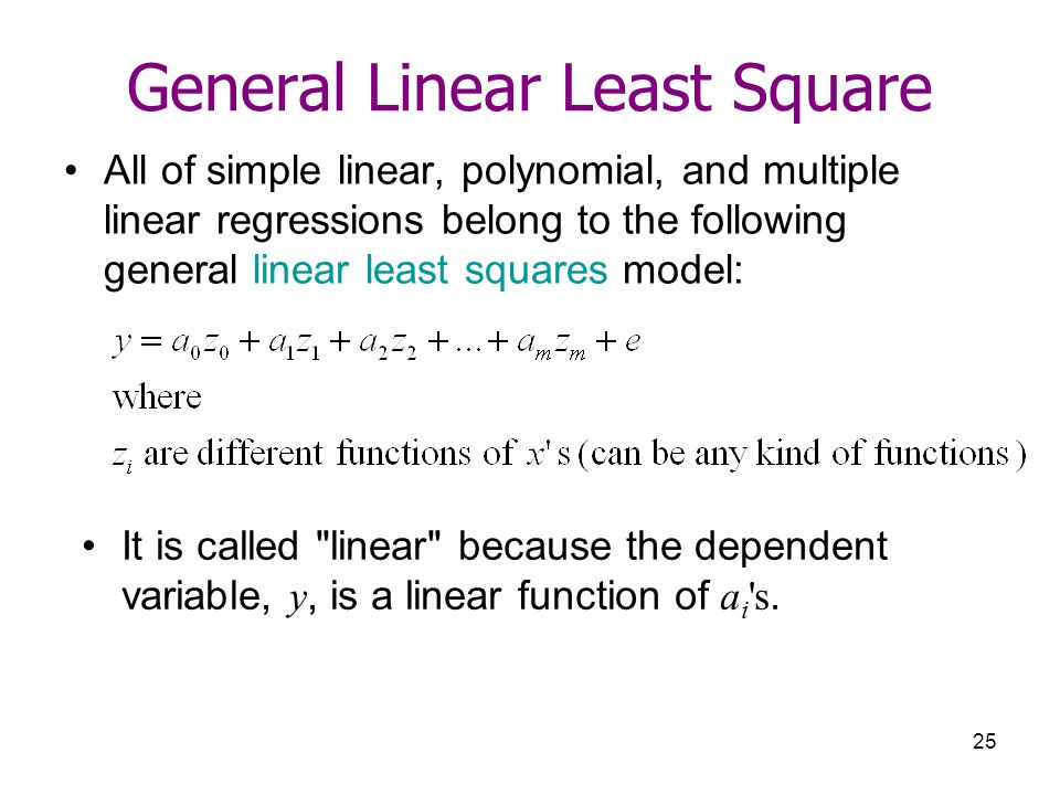 General Linear Least Square