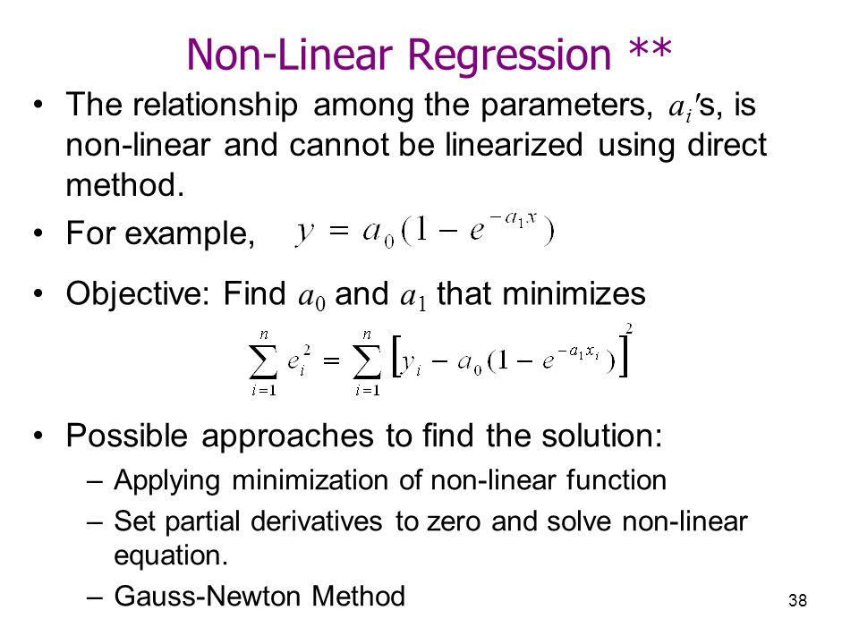 Non-Linear Regression **