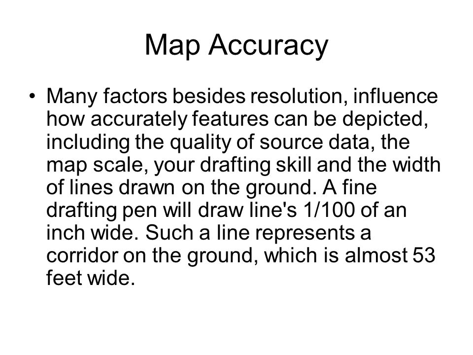 Map Accuracy