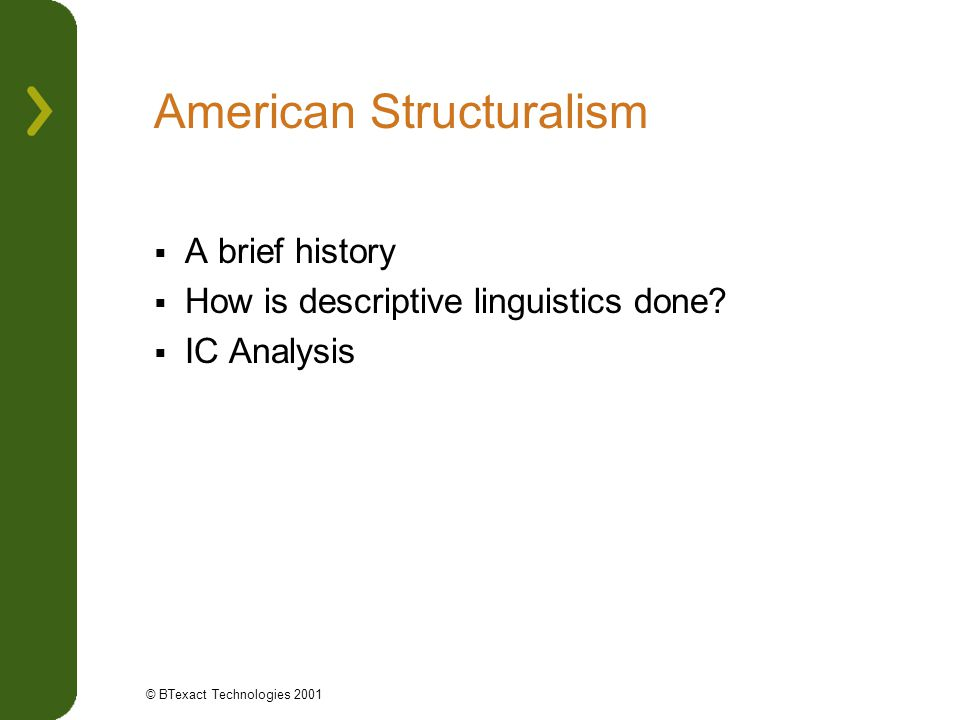 American Structuralism