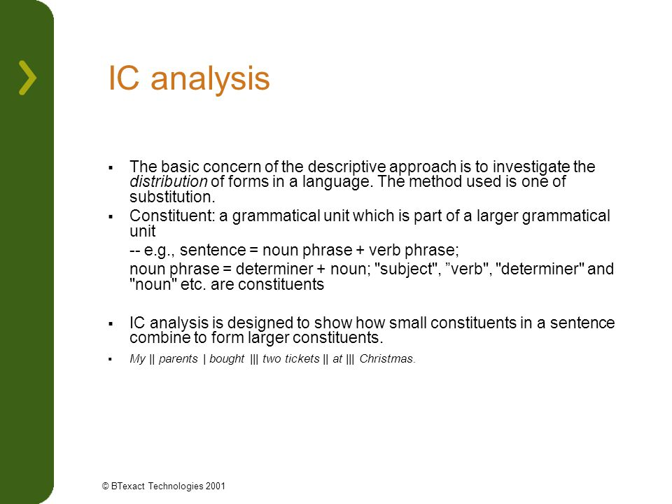 IC analysis