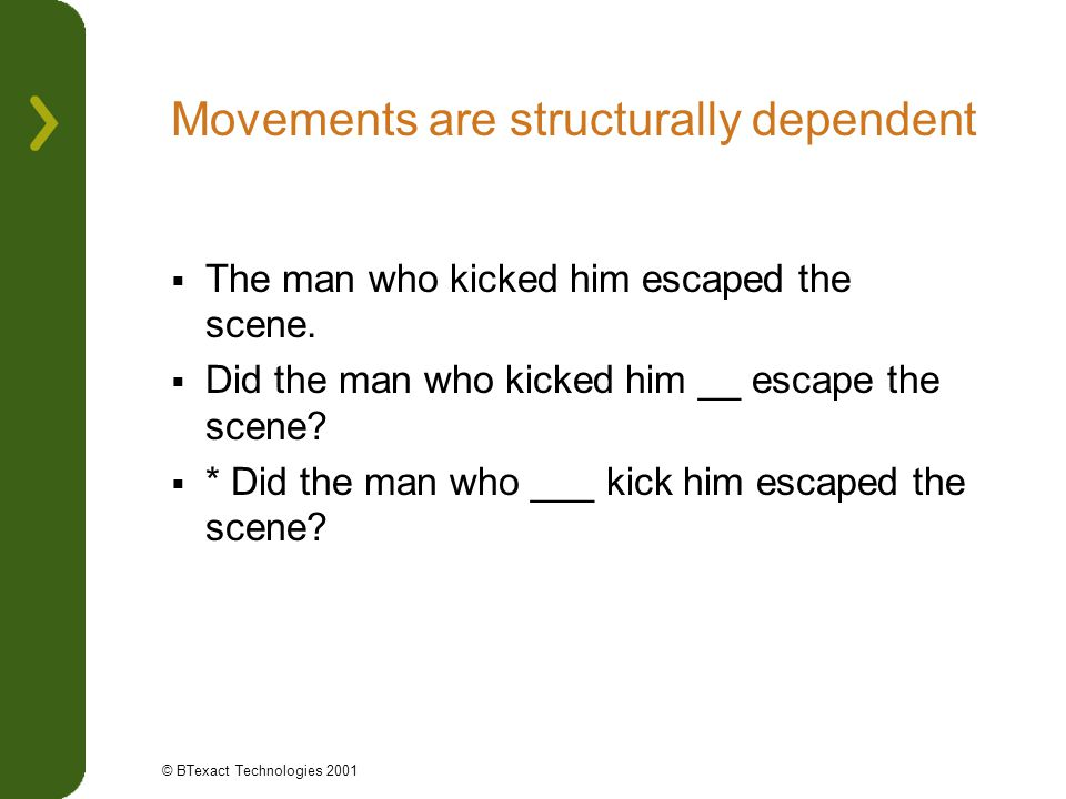 Movements are structurally dependent