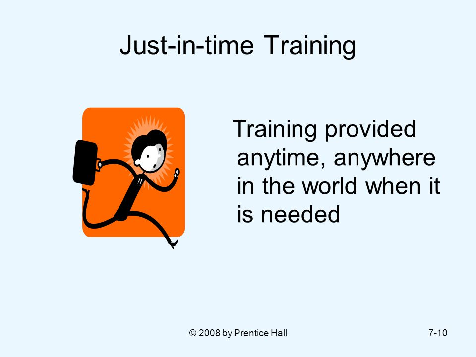 Just-in-time Training