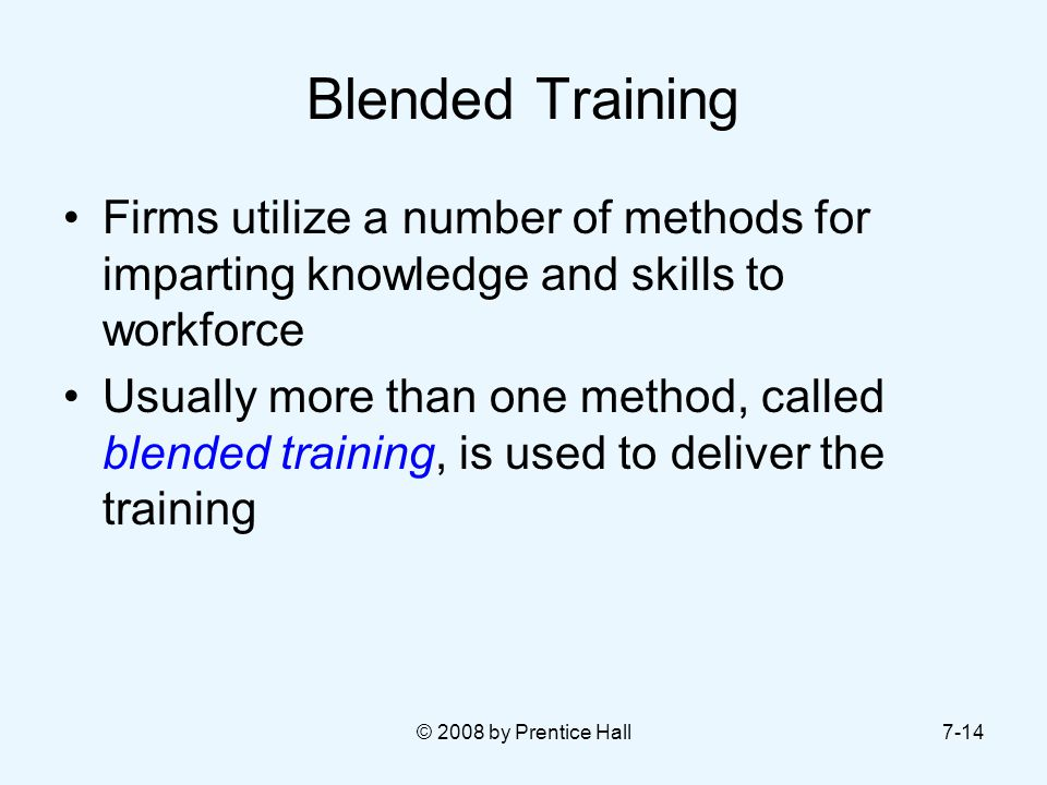 Blended Training Firms utilize a number of methods for imparting knowledge and skills to workforce.