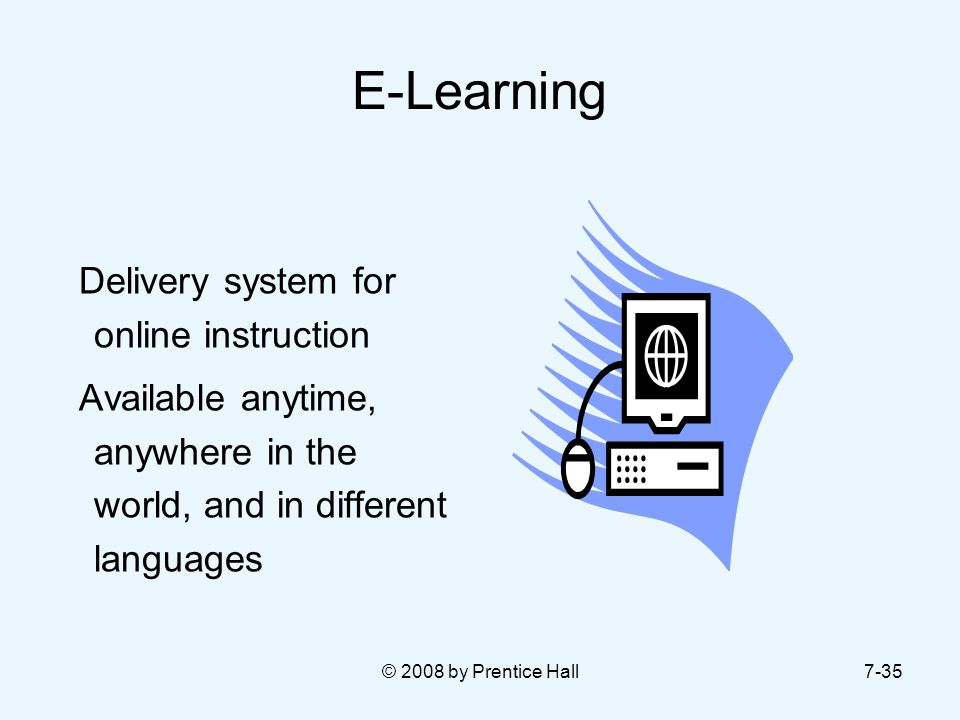 E-Learning Delivery system for online instruction