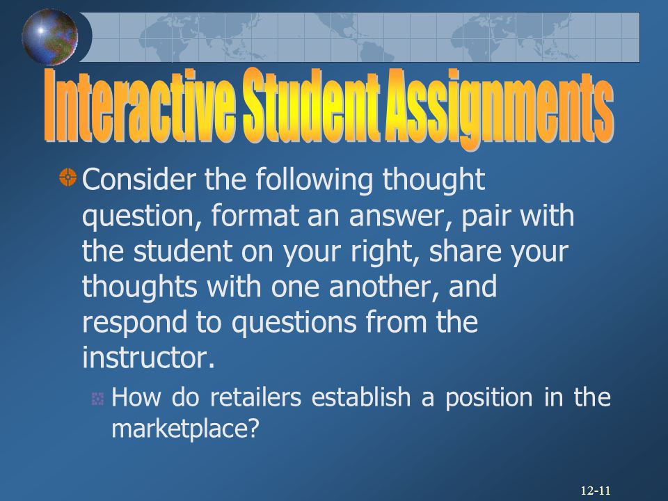 Interactive Student Assignments